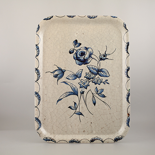 Tray, blue and white rose in the group Gifts at Stiftelsen Prins Eugens Waldemarsudde (10006)